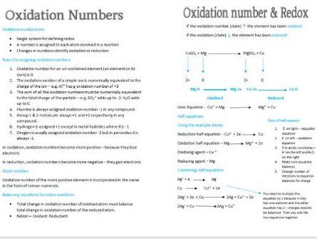 Redox 1 Booklet AS Chemistry Edexcel
