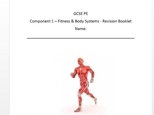 Edexcel New GCSE PE 9-1. Component One Revision Workbook.