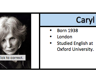Caryl Churchill - Handout / Revision guide
