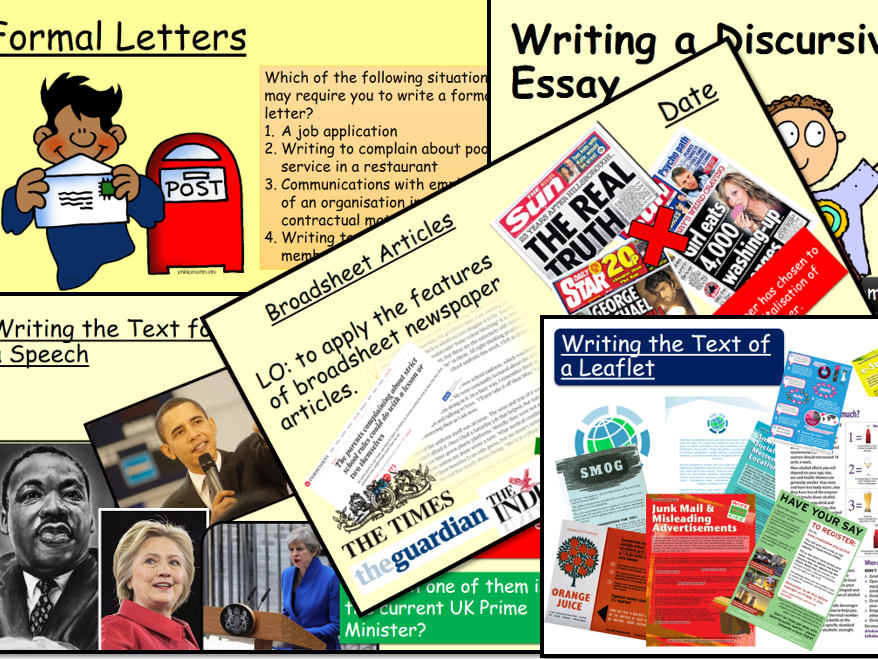 Non-Fiction Writing Bundle for GCSE (1)