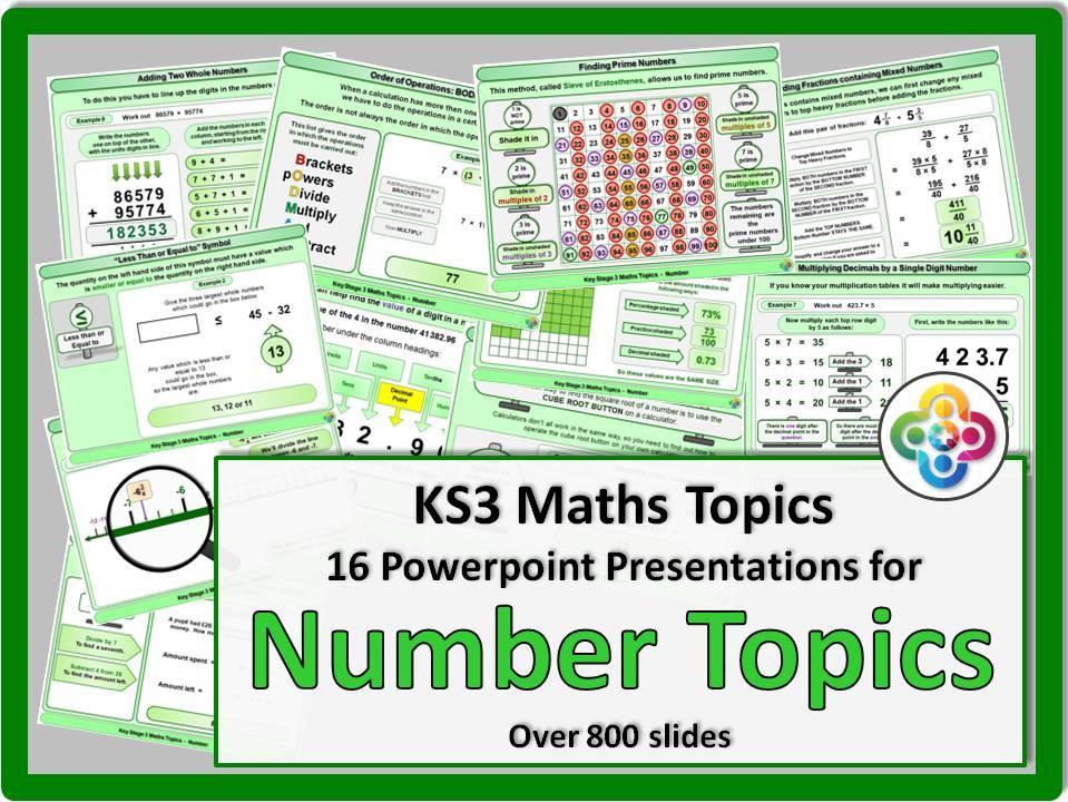 Maths Topics KS3 NUMBER