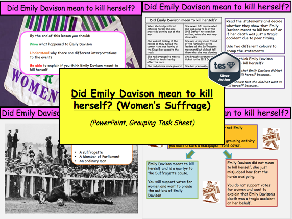 Did Emily Davison mean to kill herself? (Women's Suffrage)