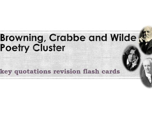 Browning, Crabbe and Wilde Poetry Key Quotations Flashcards