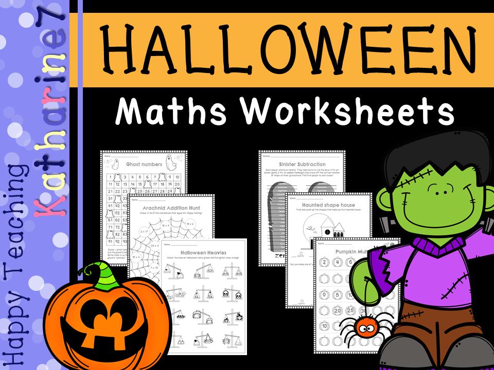 Halloween maths worksheets - KS1