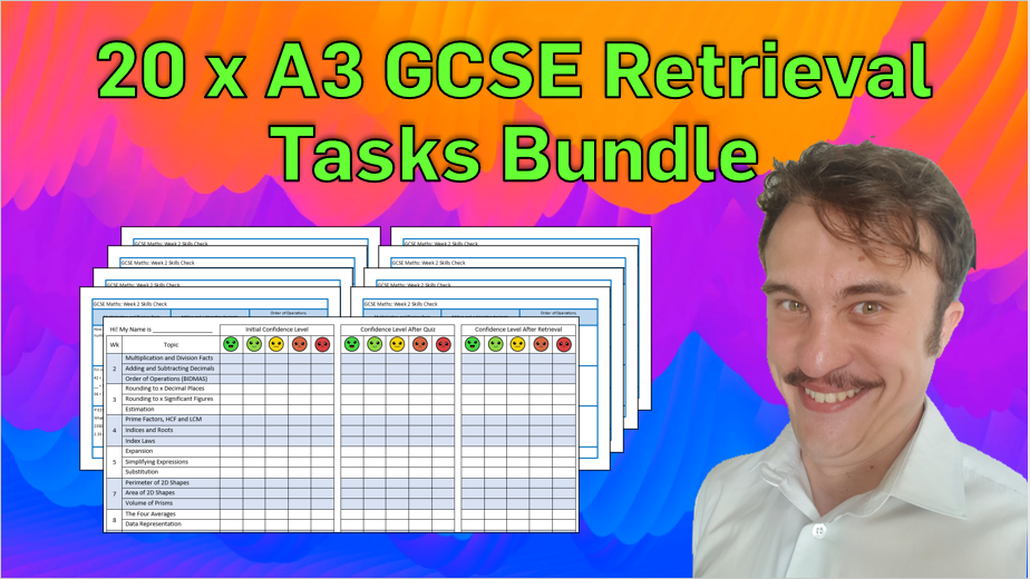 COMPLETE Set of GCSE Mathematics Retrieval Tasks for 2020/2021