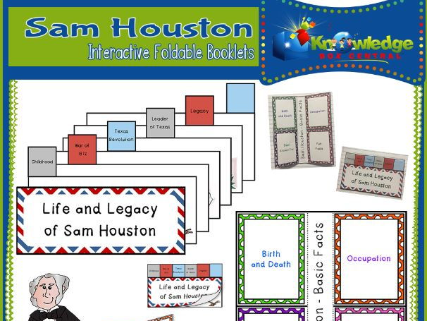 Sam Houston Interactive Foldable Booklets