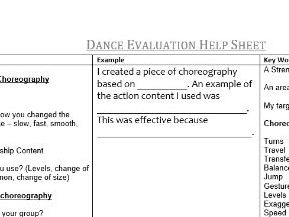 Dance Evaluation Support Mat