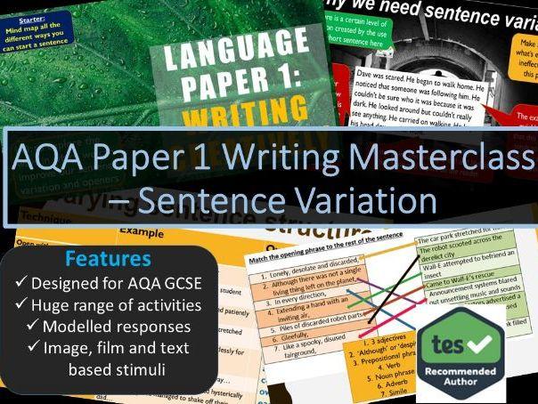 Creative Writing Masterclass - Sentence Variation