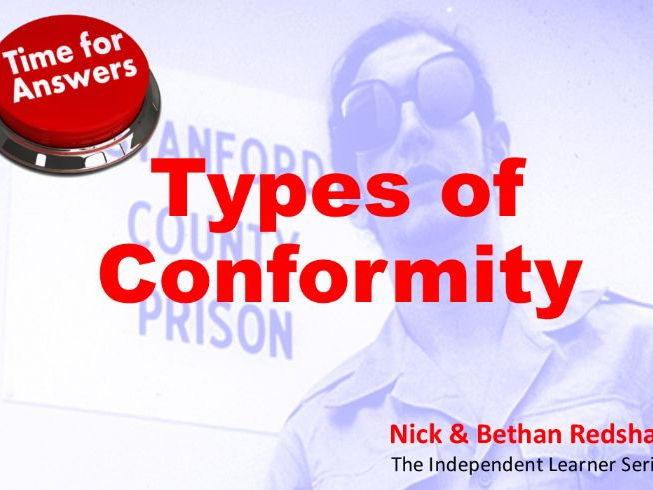 Workbook Answers - Types of Conformity