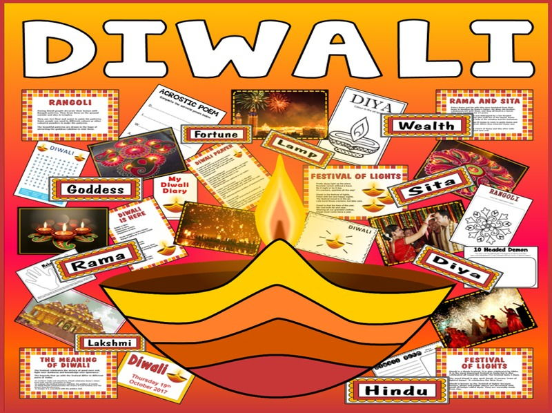 DIWALI  RESOURCES KS1 KS2 FESTIVAL OF LIGHTS HINDI SIKH RELIGION R.E