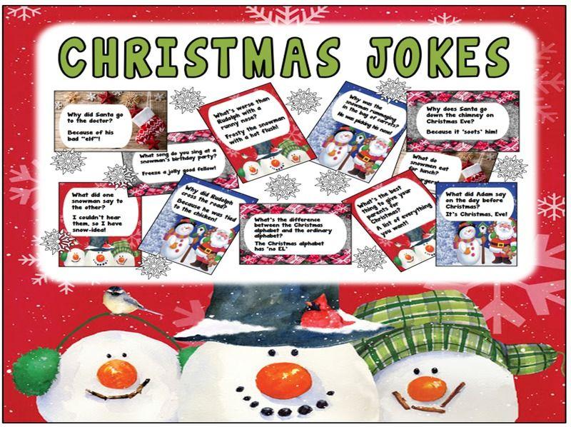 60 CHRISTMAS JOKES FLASHCARDS TEACHING RESOURCES DISPLAY SCIENCE KS1-2