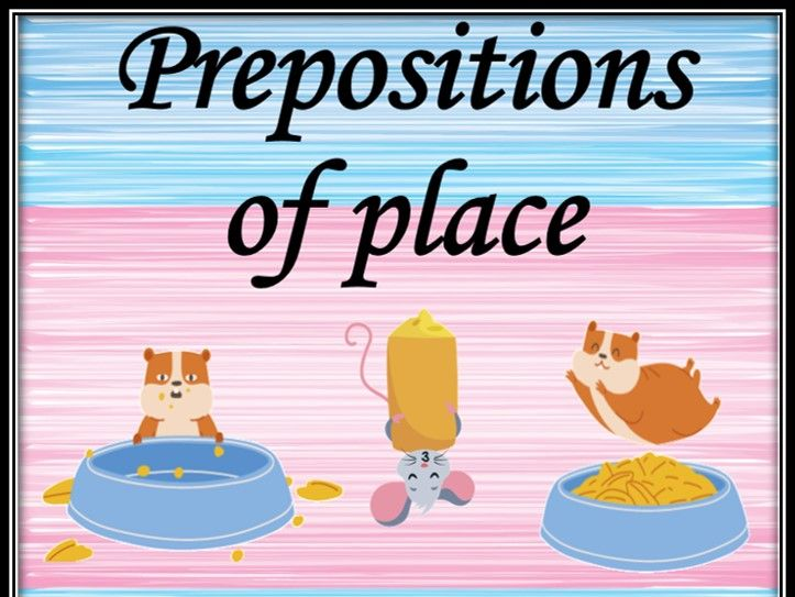 Prepositions of place. Listening game.