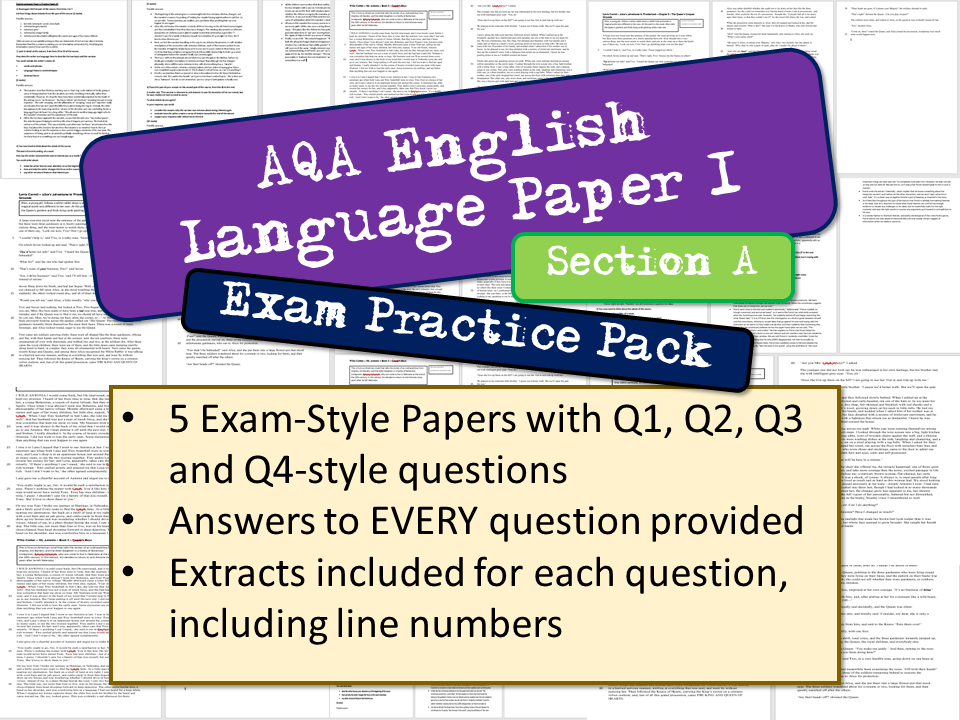 AQA English Language Paper 1 Section A