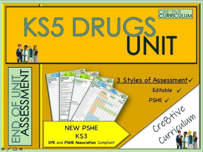 KS5 Drugs Unit PSHE Assessments