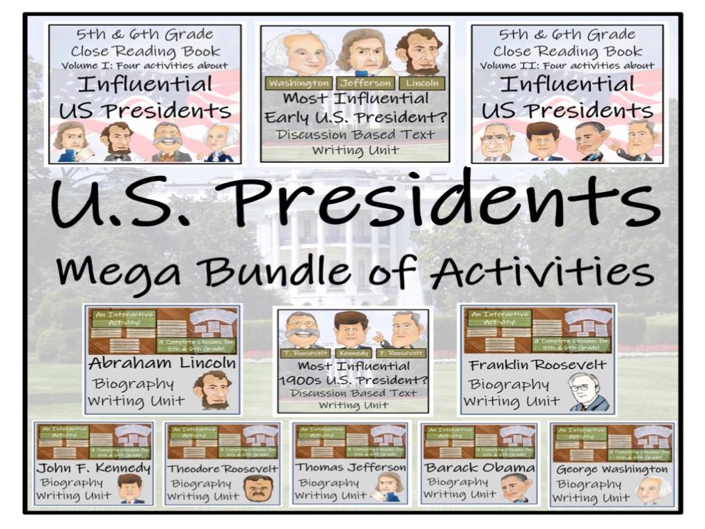 UKS2 History - U.S. Presidents Mega Bundle of Activities