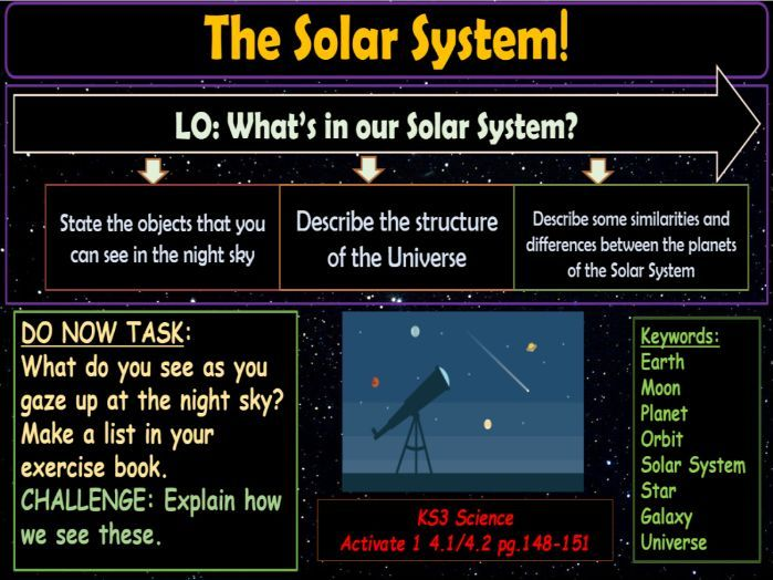 The Solar System KS3 Activate Science