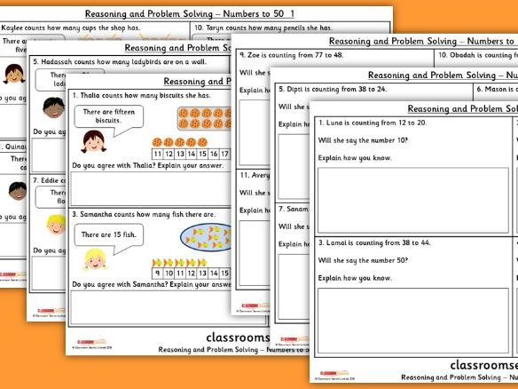 Numbers to 50 WRM Year 1 Reasoning and Problem Solving Pack