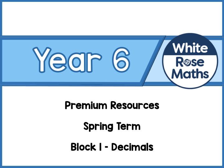 Year 6 - Decimals