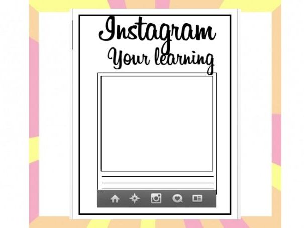 Instagram your learning