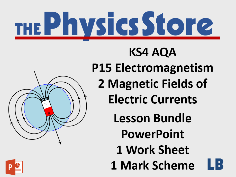 KS4 GCSE Physics AQA P15 2 Magnetic Fields of Electric Currents Lesson Bundle