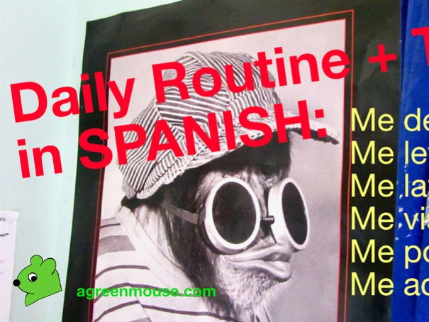 Daily Routine in Spanish Video + Worksheet