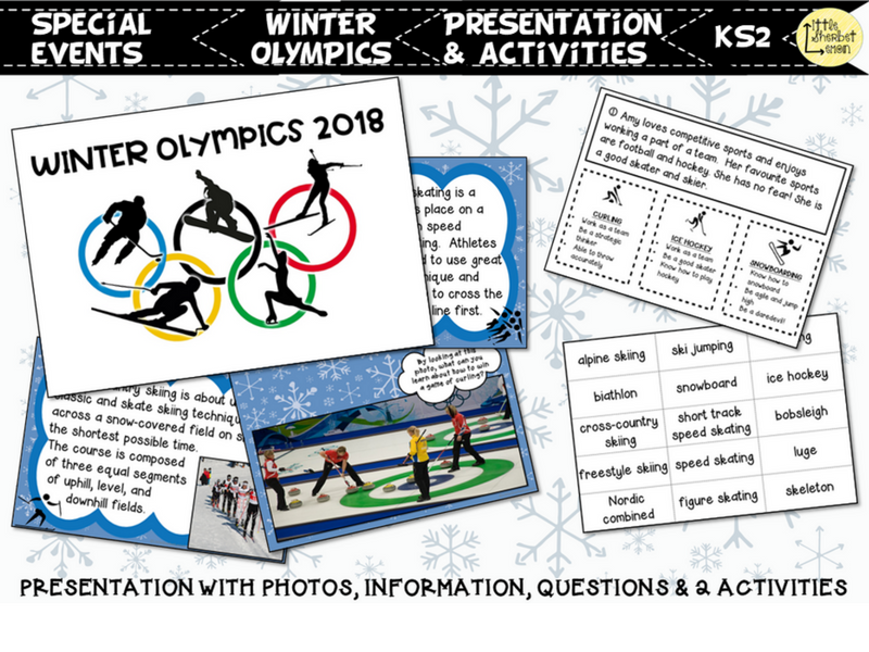 Winter Olympics Presentation & Activities