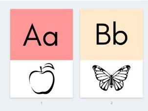Alphabet visual display posters