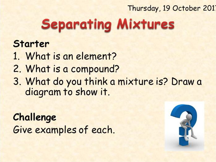 AQA Chemistry Topic 1: Separating Mixtures