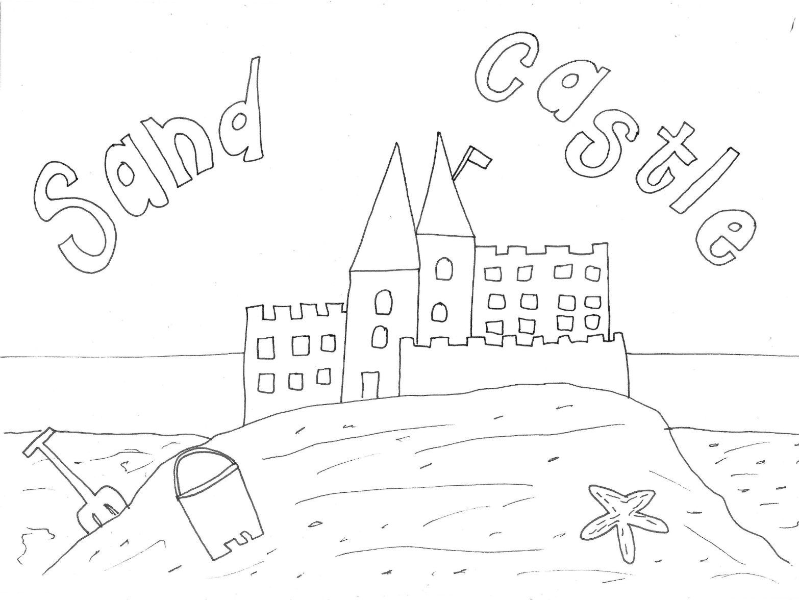 beach hut colouring page by sarah277 teaching resources tes