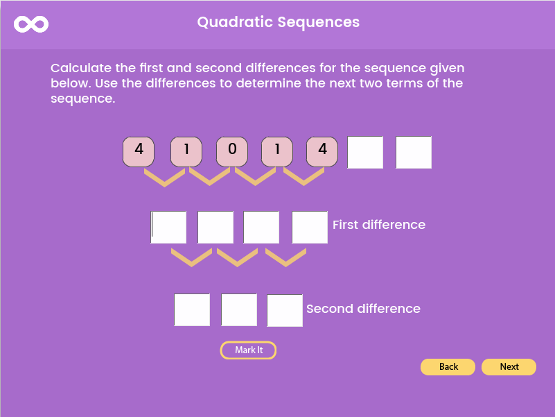 Quadratic Sequence Foundation - GCSE (1-5), (US 9th grade - 10th grade)