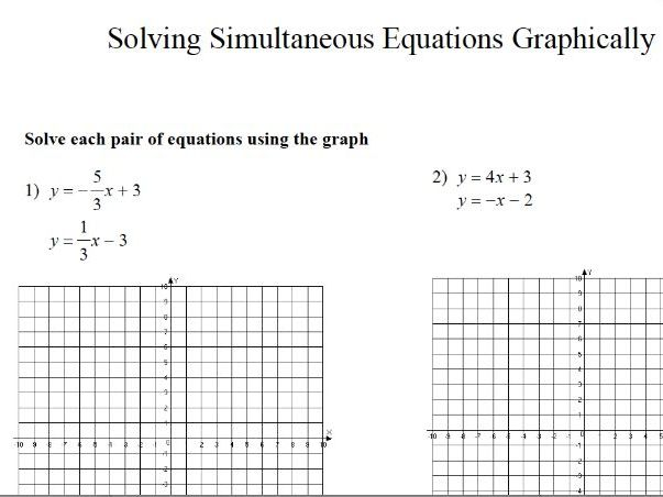 GCSE Maths Revision: Solving Simultaneous Equations Graphically