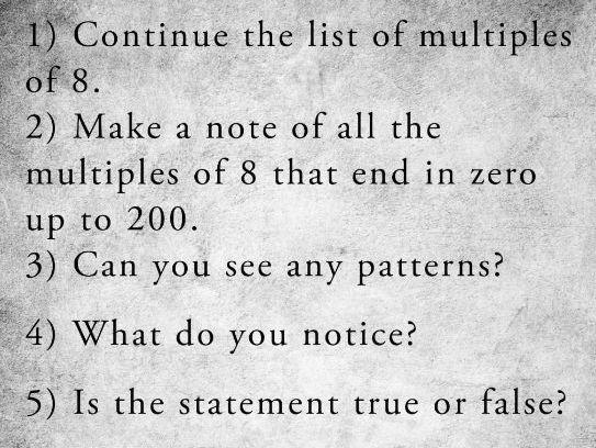KS2 Problem Solving: Analysing Multiples of 8