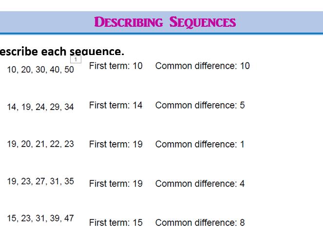 Sequences (Lite)