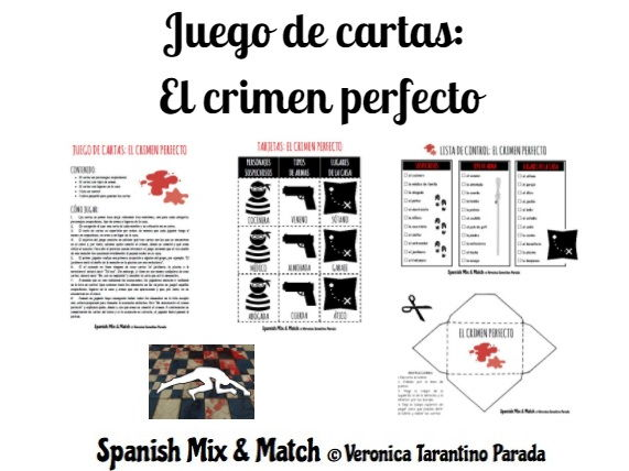 The perfect crime (card game for Spanish class)