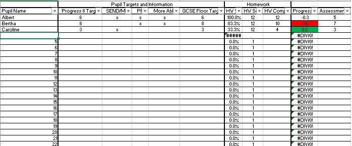 Class Data Tracker / Markbook