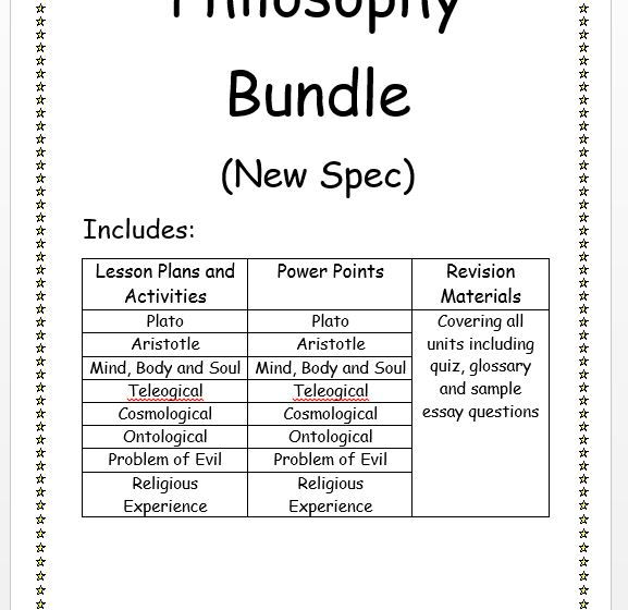 First Year Philosophy New Spec Bundle