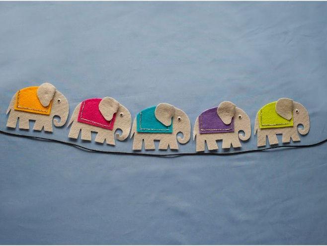 Five Grey Elephants Felt Board Pattern PDF