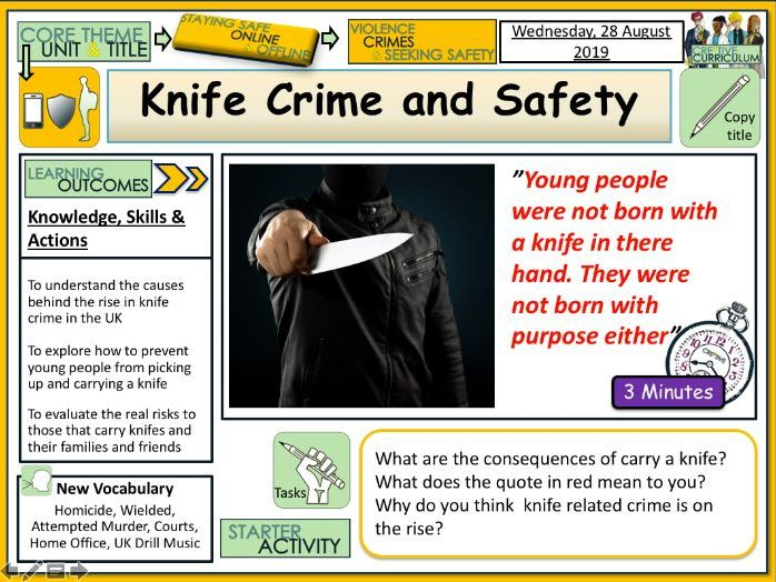 Knife crime and safety