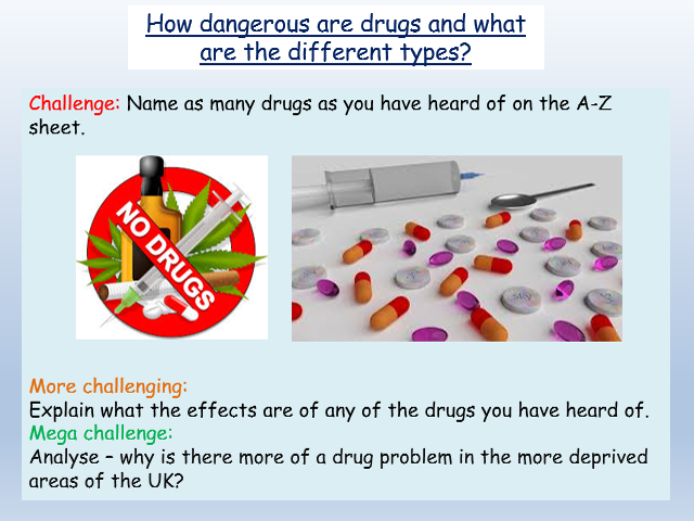 Drugs Education: Class A, B + C Drugs