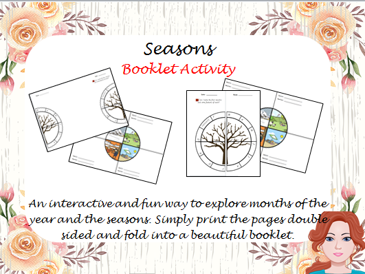 Seasons booklet activity