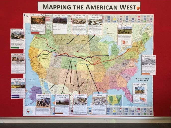 GCSE American West Map Display