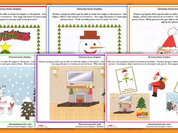 Differentiated Christmas Vector Activity for Computing