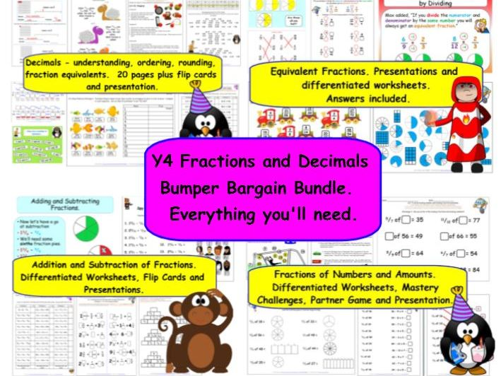 Y4 Fractions & Decimals Bargain Bundle