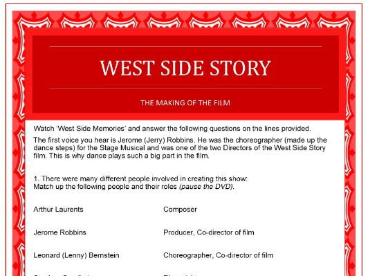 West Side Story questions on the making of the film DVD
