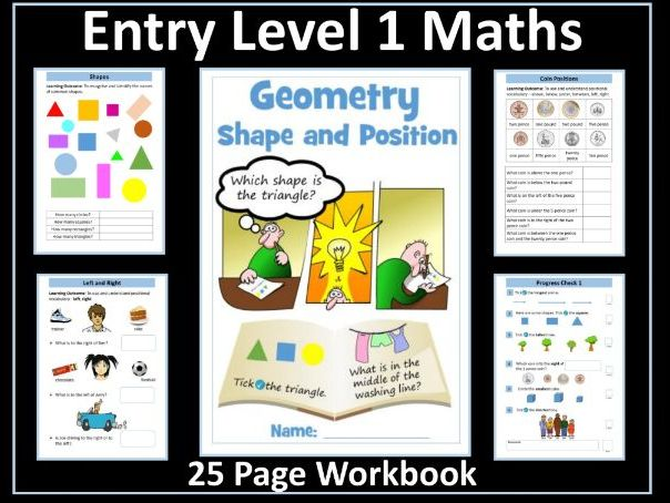 AQA Entry Level 1 Maths - Geometry - Shape and Space