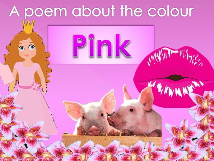 Powerpoint Poem about the colour PINK. EYFS/KS1