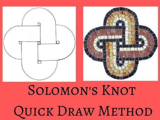 Roman Mosaic Solomons Knot