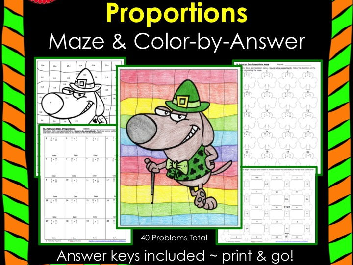 Proportions Maze Color By Answer Bundle By Gottaluvitcreations