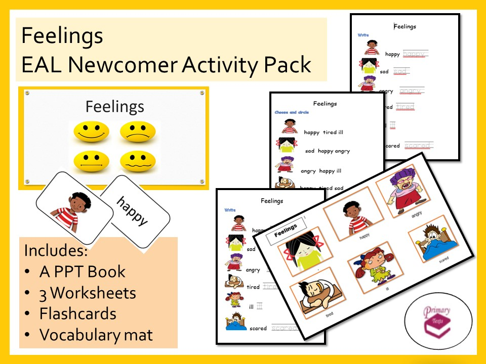 Feelings EAL Newcomer Activity Pack