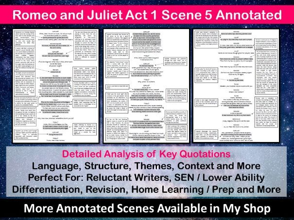 Romeo and Juliet Act 1 Scene 5 Annotated